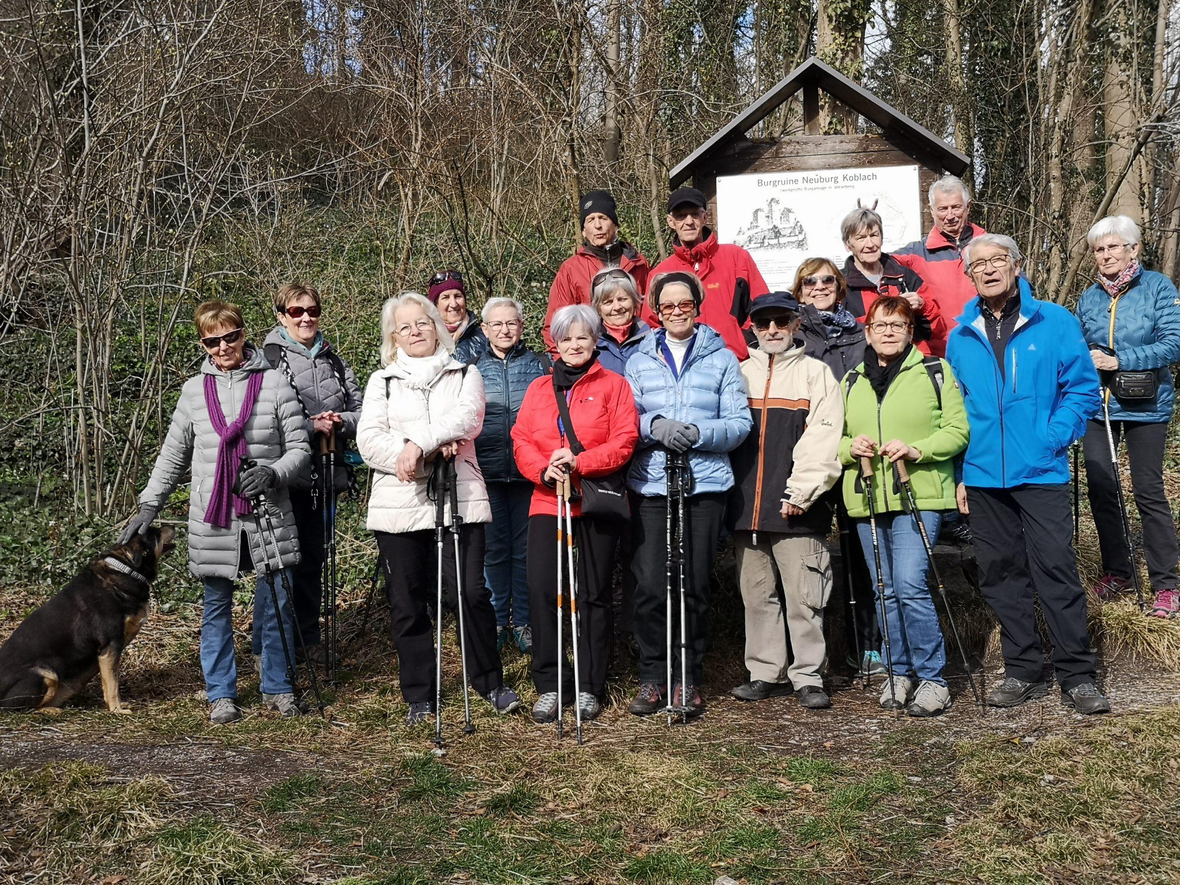 Wanderung Burgruine Neuburg 4.3.2020