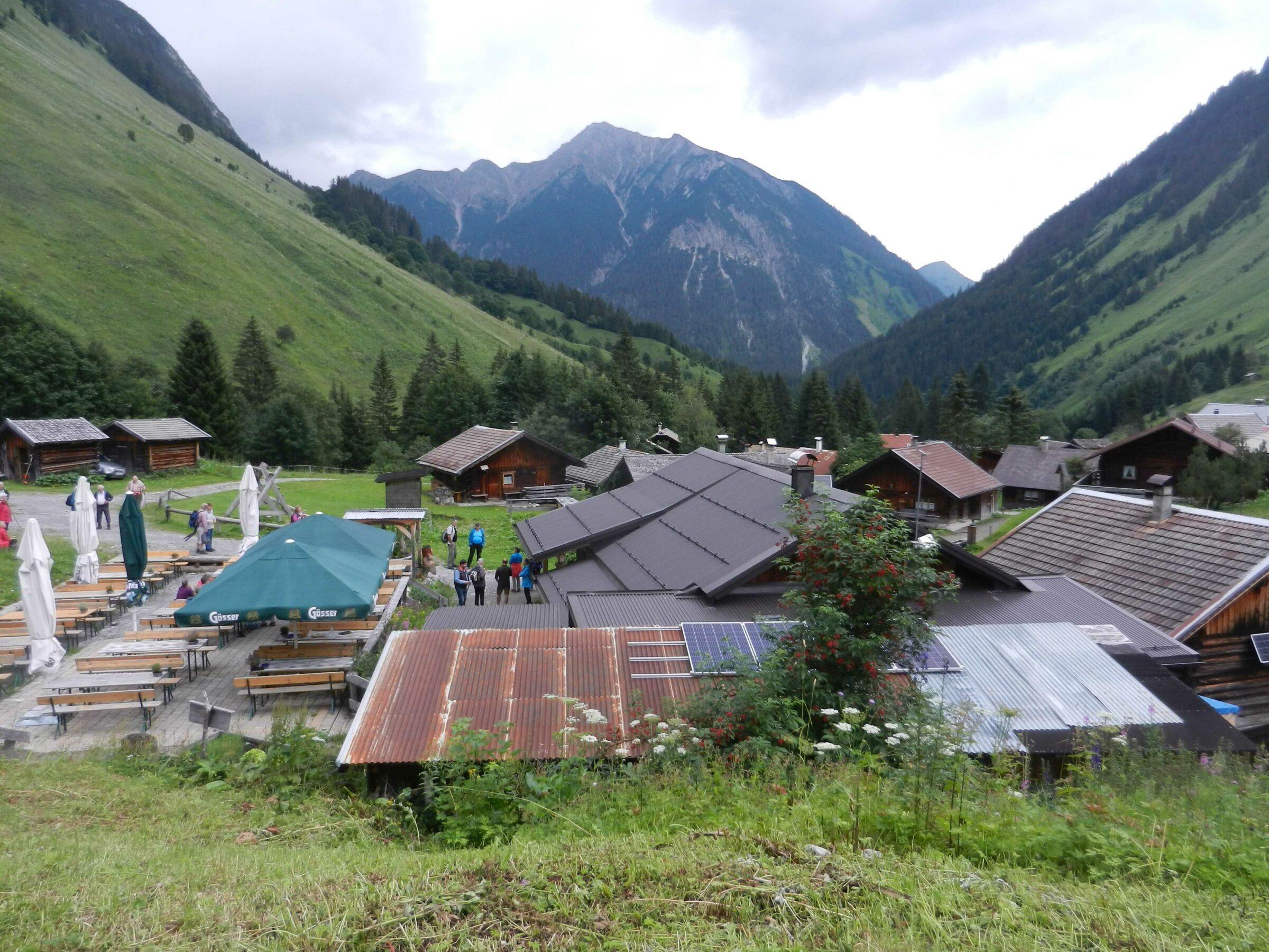 Alpwanderung zum Almdorf Fallerschein am 24.7.2020
