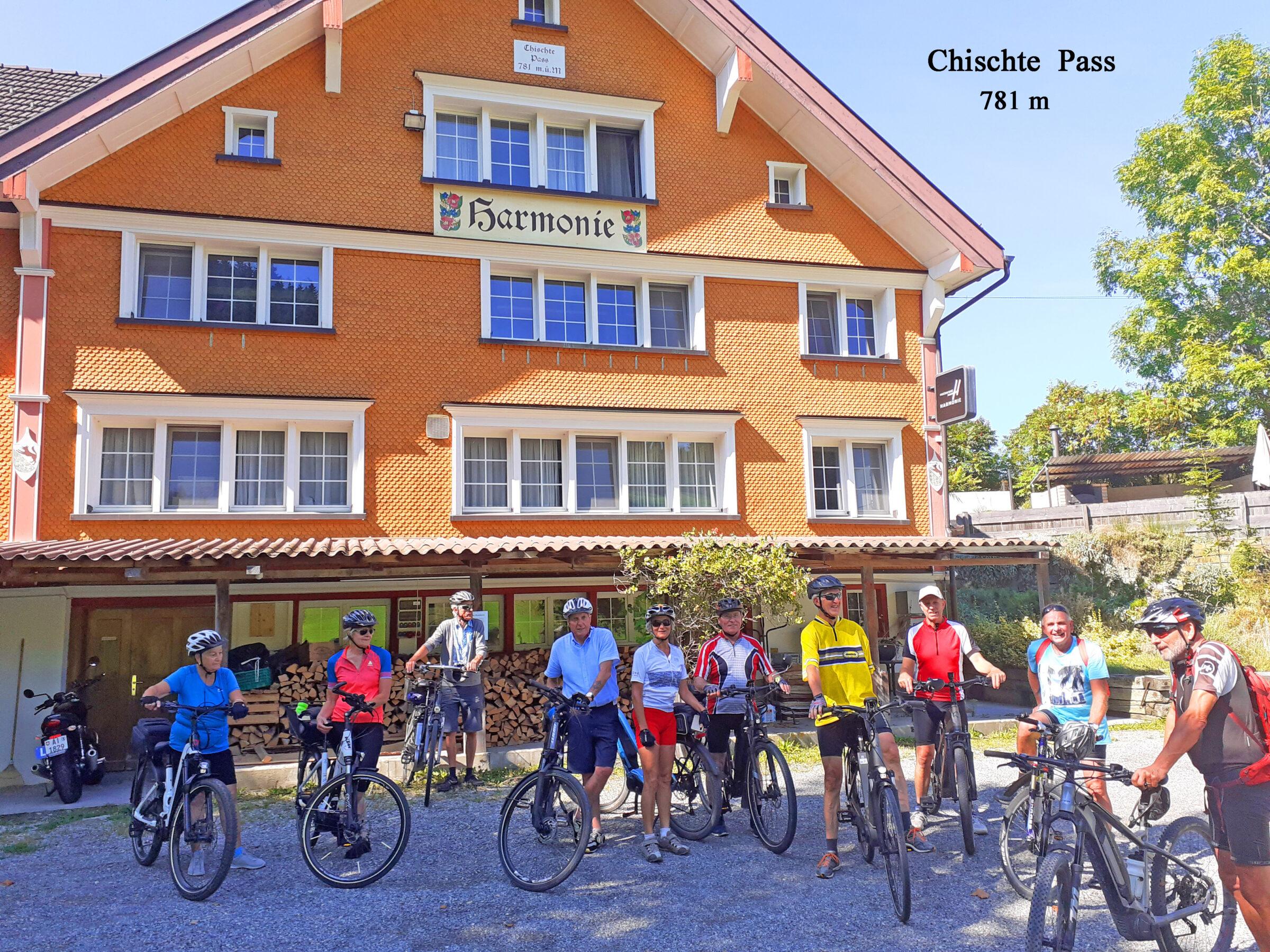 """Radtour auf den """"Chischte Pass"""" Seniorenbund Höchst"""