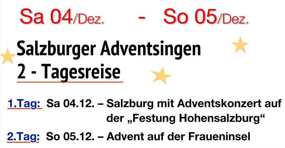 2 Tagesreise – Salzburger Adventsingen